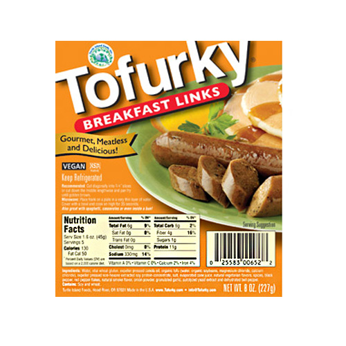 Tofurky Breakfast Links