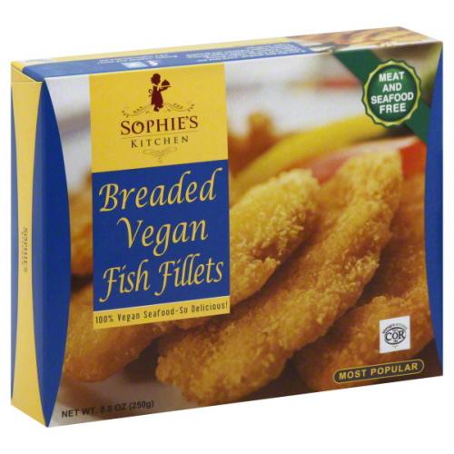 Sophie's Kitchen Breaded Vegan Fish Fillets